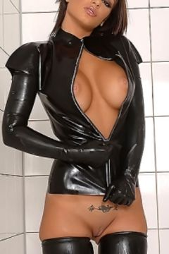 Black Angelika latex
