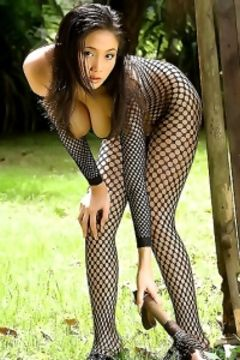 Annie Chui black fishnet