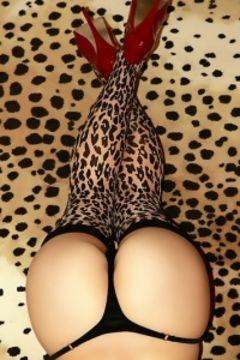 Kayden Kross leopard print