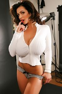 Denise Milani Too Tight White Sweater