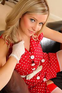 Elle Richie In Red Polka Dot Dress