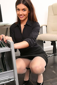 Sexy Secretary Abigail Strips