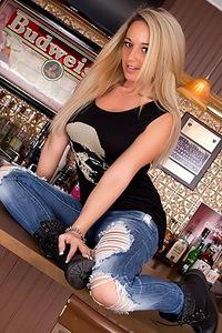 Nikki Sims Shredded Jeans Rocker Girl