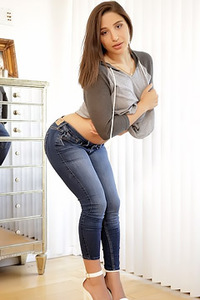 Abella Danger Strips Off Her Jeans