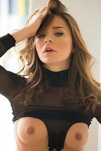 Lily Chey Black Bodysuit