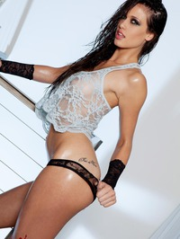 Tiffany Thompson See-through Lingerie 01