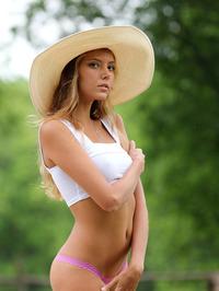Slim Blonde Beauty Mango Gets Nude In The Garden 05