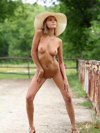 Slim Blonde Beauty Mango Gets Nude In The Garden 12