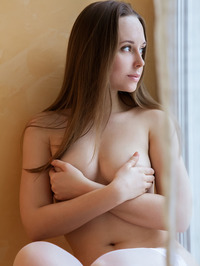 Lea A Natural Titted Brunette Russian Teen In Erotic Art Pictures 01