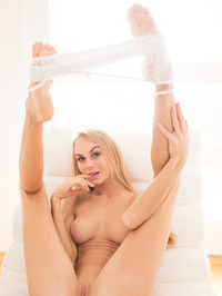 Nancy A Spreading Shaved Pussy 05