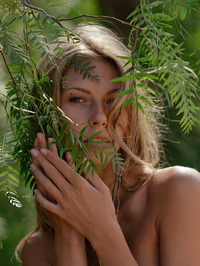 Anjelica Naked In The Forest 10