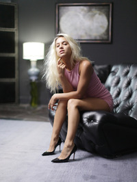 Blonde With A Glass Dildo 01