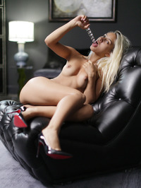 Blonde With A Glass Dildo 02